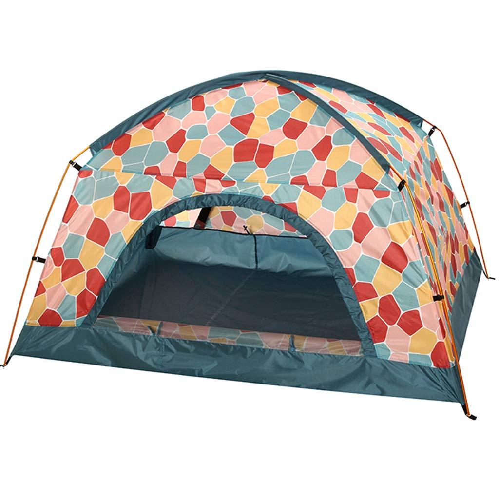 YaNanHome Imprägniern Zelt des Zeltes des Zeltes des Zeltes im Freien Zeltzelt des Zeltpaares mit 1-2 Leuten (Farbe : ROT, Größe : 200  150  120cm)