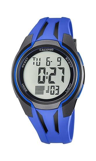 Reloj Digital Unisex con Pantalla Digital LCD, con Esfera y Correa de plástico de Color Azul. Marca Calypso K5703/3: Amazon.es: Relojes