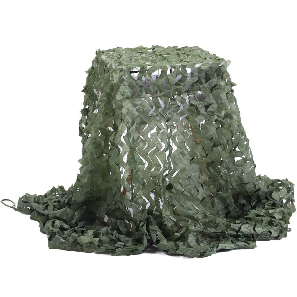 QIANGDA Rete Mimetica verde Leggero Durevole per La Caccia Decorazione Militare Tenda da Sole, Formato Personalizzato (colore   verde, Dimensioni   4x4m)