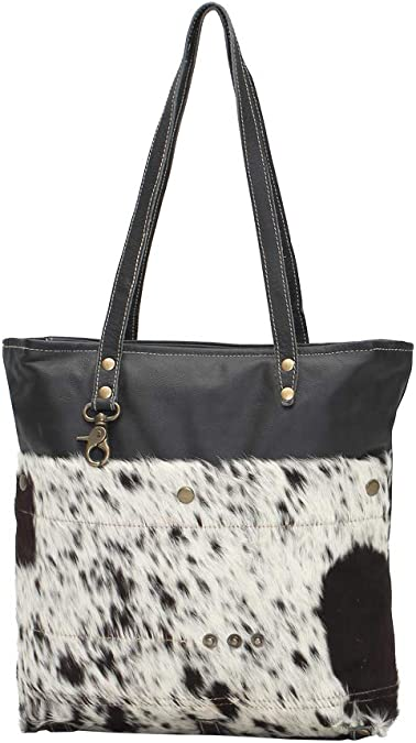 Myra Bags Black Shades Genuine Leather With Animal Print Tote Bag S 0980 Fur daily leopard print shoulder bags tote bags messenger bag clutch handbagtop rated seller. myra bags black shades genuine leather