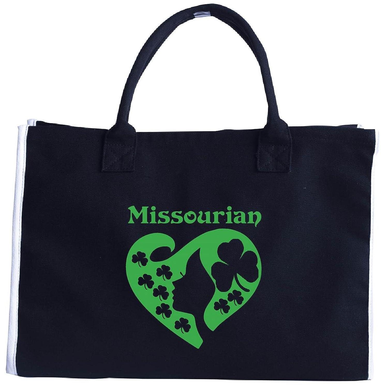 Missourian St Patrick Day Girl Heart Irish Green - Tote Bag