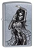 Zippo Sexy Skeleton Pocket Lighter, Street Chrome
