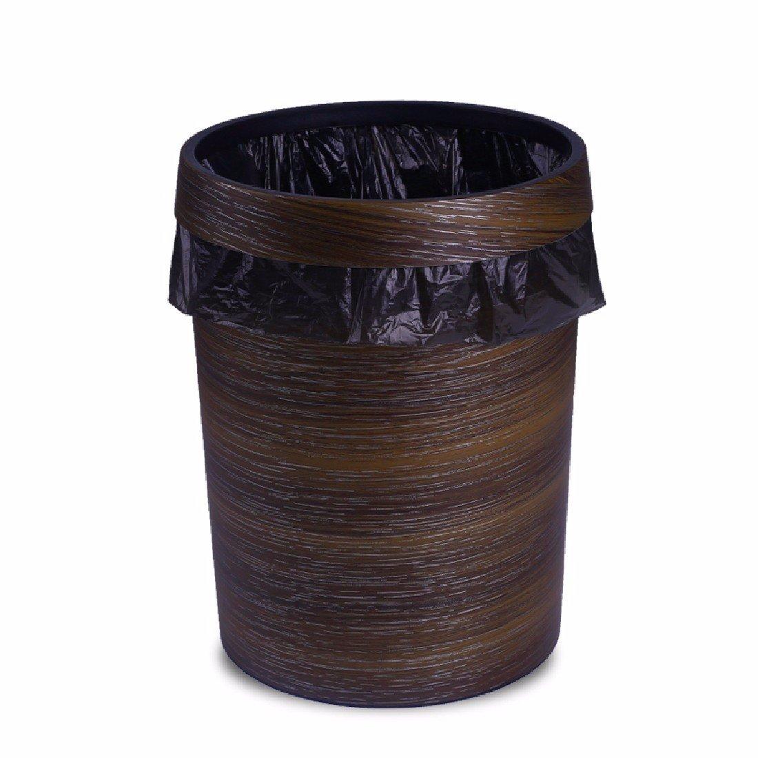 HQLCX-Rubbish Bin Rubbish Bin European Antique Wood Imitation Plastic Trash Cans Household Kitchen And Toilet Hotel Sanitary Pail by HQLCX-Rubbish Bin (Image #1)