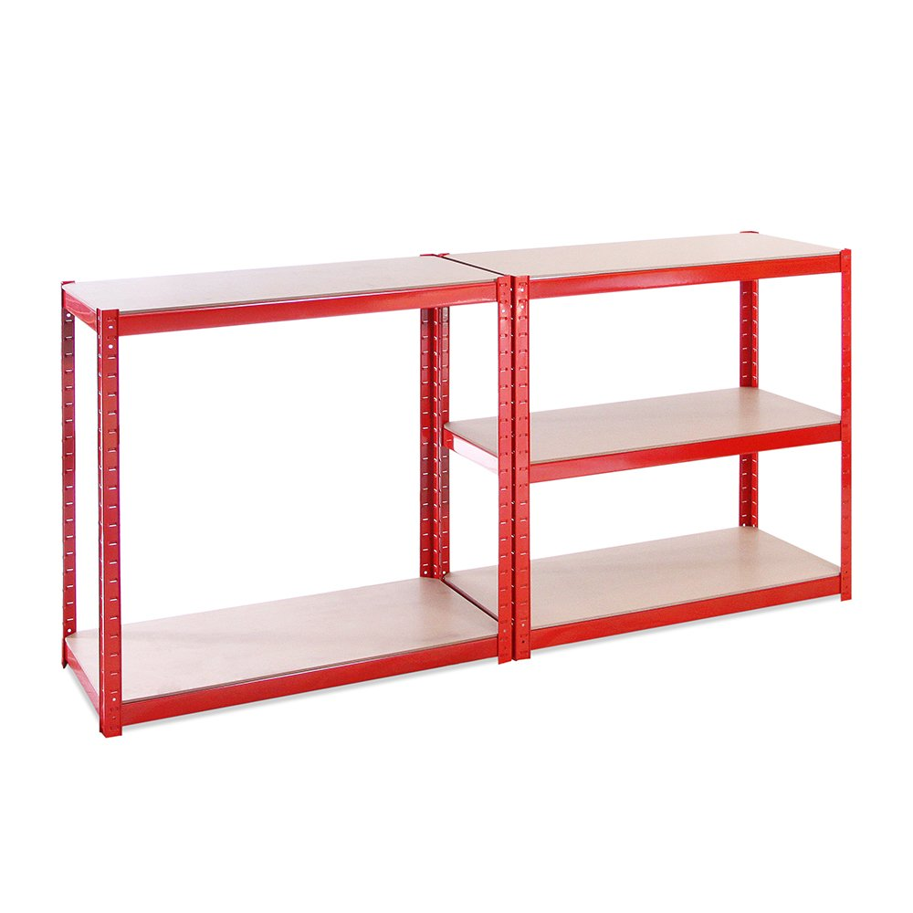 Red Color Total Capacity of 1325 kg 265 kg per Shelf Ideal for Garage or shed Extra Deep 0034MALLET G-Rack 0034M 5 Levels Rosso 180 x 90 x 45 cm Includes 5 Shelves Storage