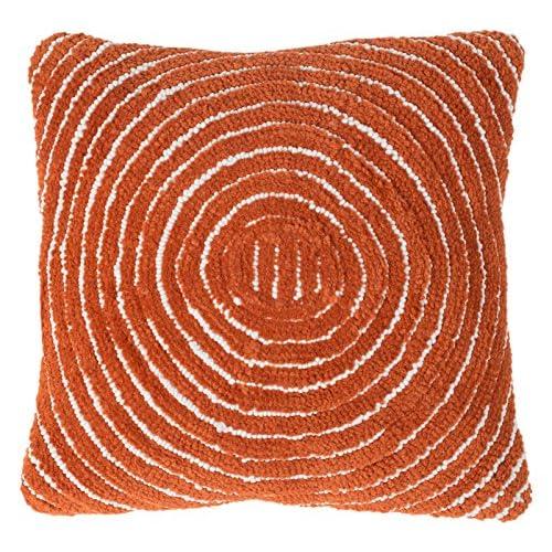 Discount Lavish Home 66-06-JT Modern Throw Pillow, Burnt Orange