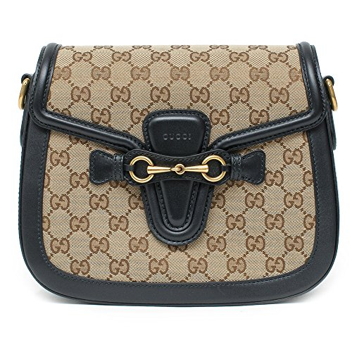 6d8dd5bbe0d4 Amazon.com  Gucci Lady Web GG Signature Authentic Black Leather Red Strap  Italy New Bag  Shoes