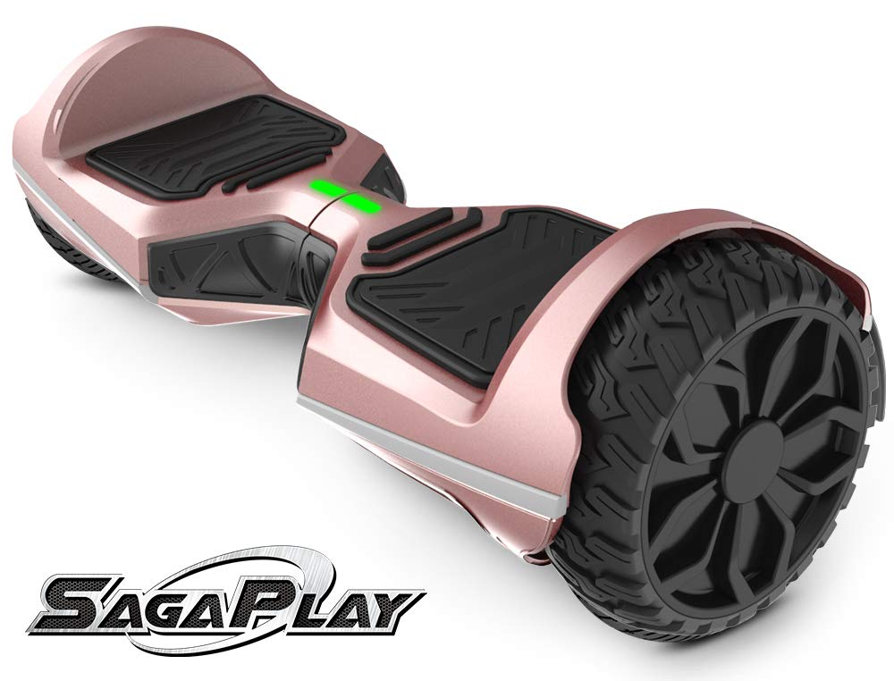 SagaPlay Self Balancing Scooter Hover Self-Balance Board w/Wireless Speakers - UL2272 Certified, 220W Dual-Motor, 6.5'' Electric Powered Board Hover [F1 Series, Rose Gold (WT45)]