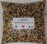 Multi-colored Popcorn Popping Corn 3 lbs (three pounds) Kernels (Calico or Rainbow), Whole Grain, USDA Certified Organic, Non-GMO~BULK