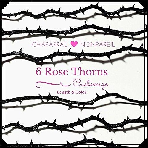 Gothic Rose Thorn Stem, Gothic Wedding Bouquet, DIY Halloween Centerpiece Decoration, Alternative Bouquet Accent, Goth Valentines Day Decor -