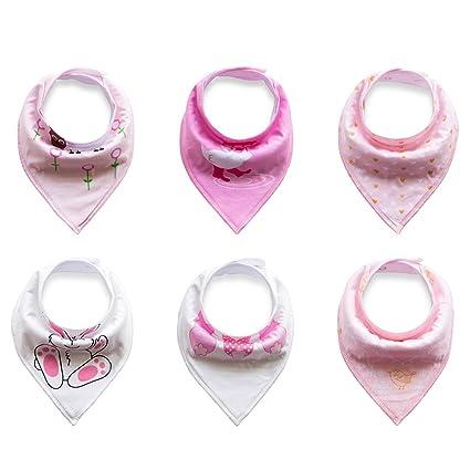 0415217cb6 Txian 6pcs bandana neonato bavaglini 100% cotone bavaglini, carino modello impermeabile  saliva asciugamano per neonati e bambini: Amazon.it: Prima infanzia