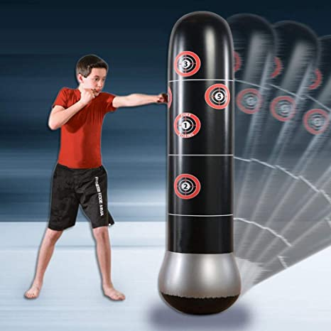 Fitnessstudio Ducomi Aufblasbarer Boxsack Boxsack und Pumpe zum Aufblasen Boxset Muay Thai Training Fit Boxing Wasserbasisbeutel f/ür Erwachsene und Kinder Kickboxen Heim