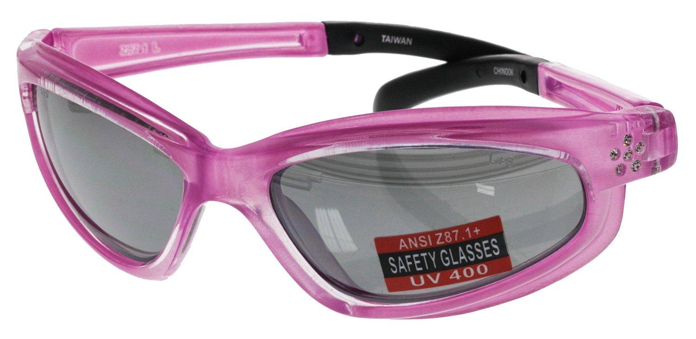 3d873b49c717 Women s Rhinestone Safety Glasses - Pink - - Amazon.com