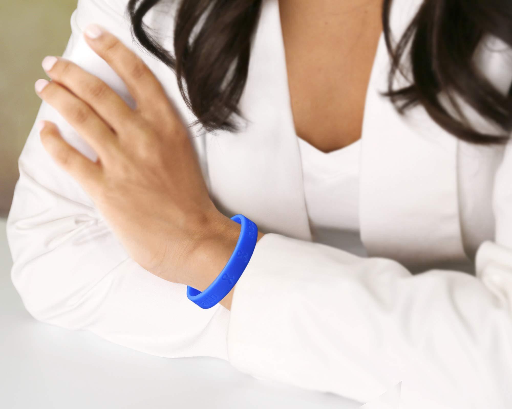 50 Pack Periwinkle Silicone Bracelets - Adult Size (Wholesale Pack - 50 Bracelets)