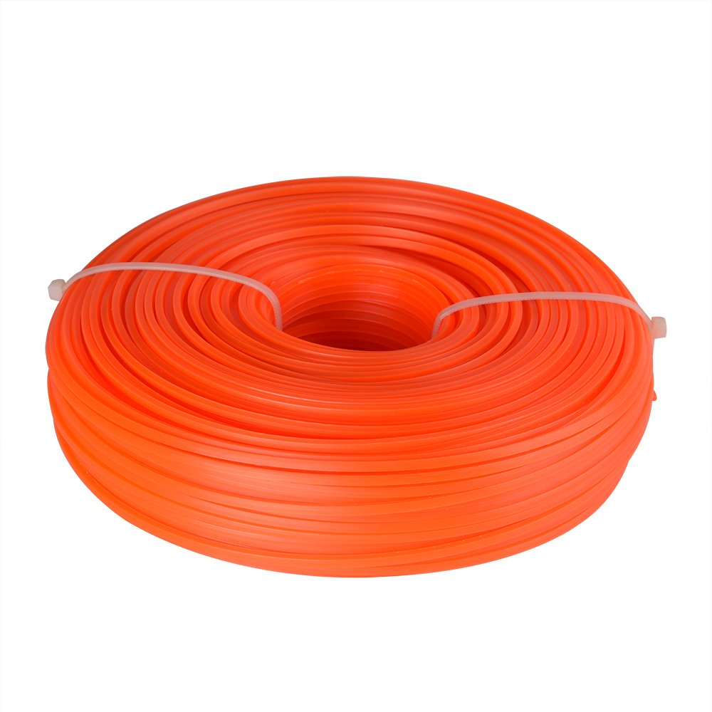 FEPITO Trimmer Line Square 2.4mm x 86M Strimmer Line Brushcutter Wire