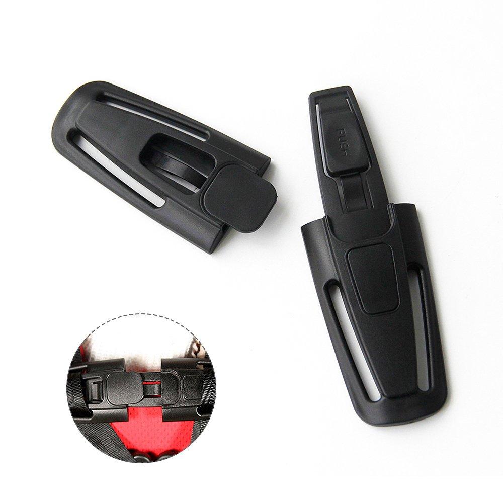 ZhongYeYuanDianZiKeJi 1Pc Car Baby Safety Seat Strap Belt Lock Harness Chest Clip Lock Safe Buckle Black