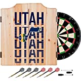 Trademark Gameroom NBA7010-UJ3 NBA Dart Cabinet Set with Darts & Board - City - Utah Jazz