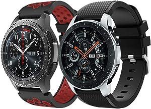 Syxinn Compatible con Correa de Reloj Gear S3 Frontier/Classic/Galaxy Watch 46mm/Galaxy Watch 3 45mm Banda de Silicona Suave Deportiva Pulsera para Huawei Watch GT 2 46mm/GT 2e/Moto 360 2nd Gen 46mm