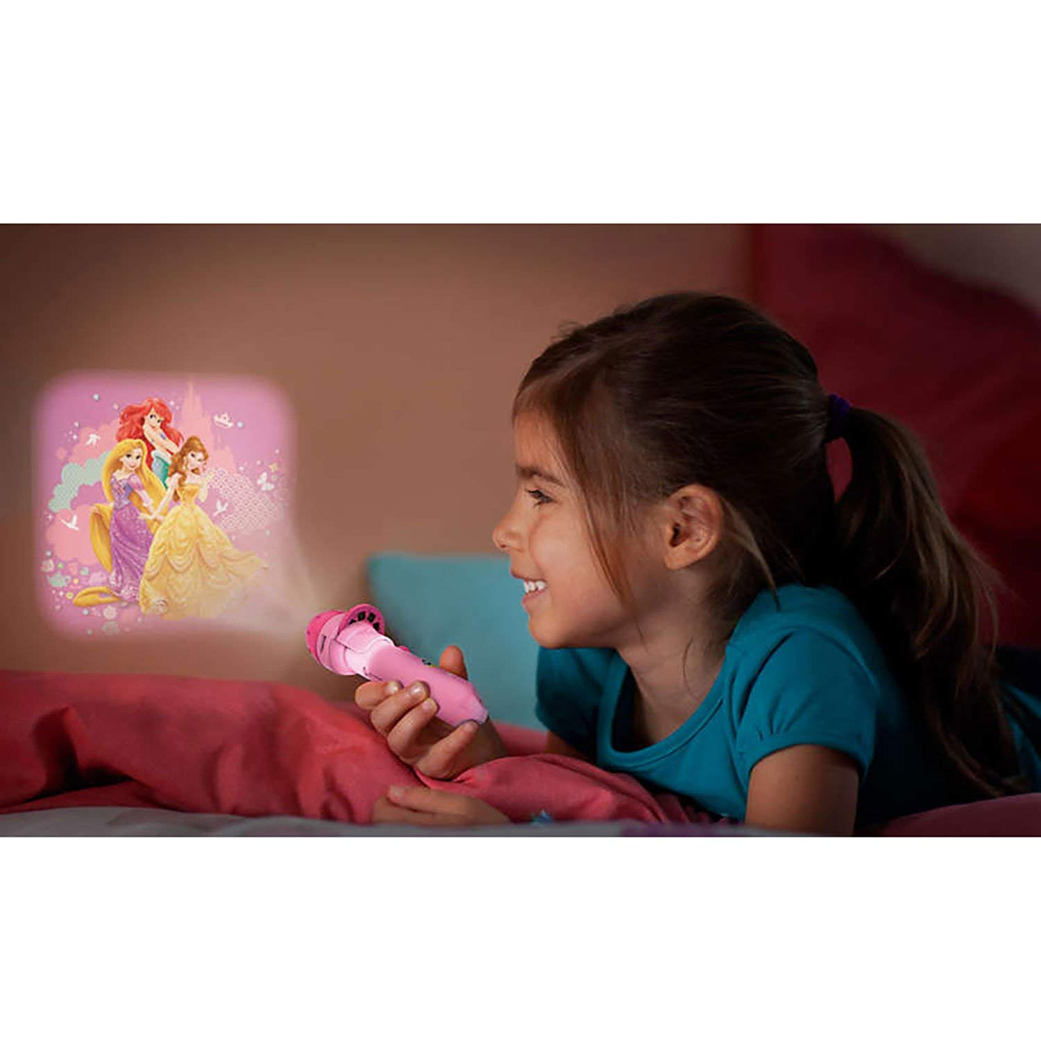 Zabawki Philips Disney Princess Pink 2-in-1 Projector And Flash Light Torch LED