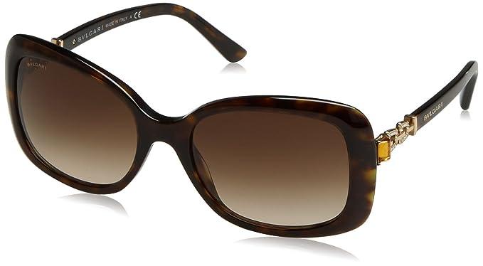 Bulgari 8144 Gafas de Sol, Dark Havana, 57 Unisex-Adulto ...