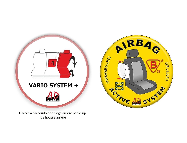 Comfort Sitzbez/üge Auto universal Set Autositzbez/üge Schonbez/üge schwarz-blau Vordersitze und R/ücksitze mit Airbag System