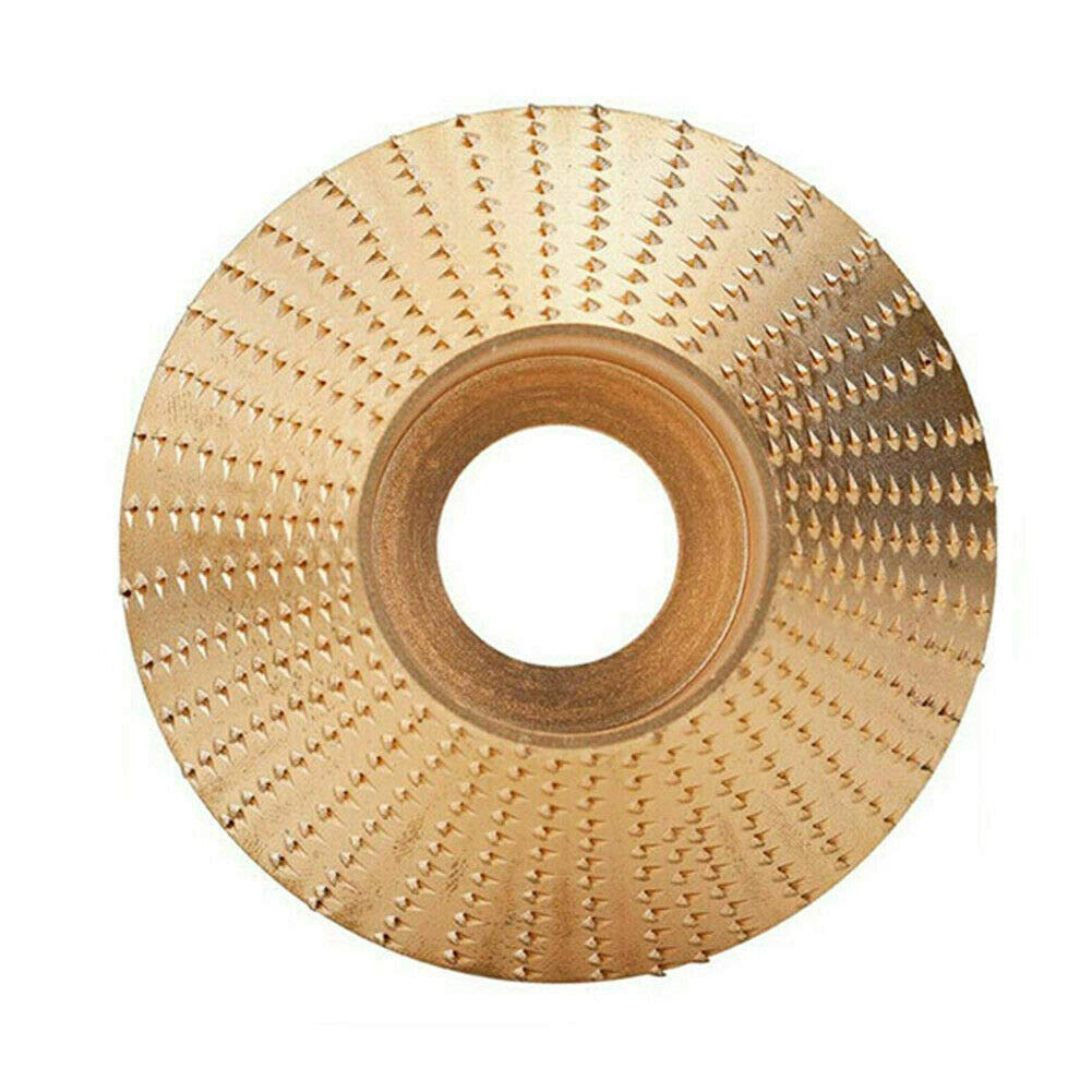 4 in Bevel Gold Bingqi Wood Tungsten Carbide Grinding Wheel Sanding Carving Tool Abrasive Disc for Angle Grinder