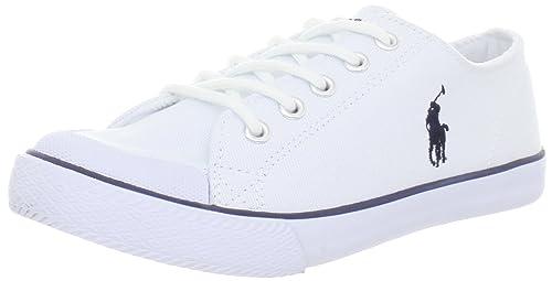 Polo Ralph Lauren Chandler Chandler - K - Zapatillas de deporte de lona para niños, color blanco, talla 38: Amazon.es: Zapatos y complementos