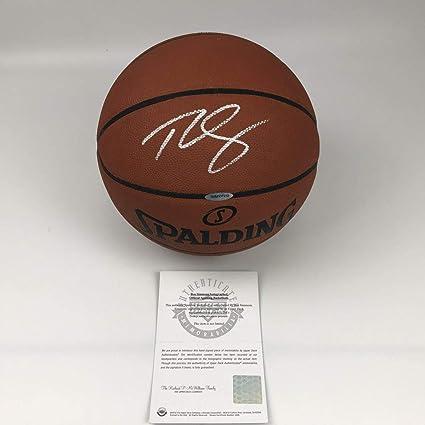 09eea6c7aa8 Autographed Signed Ben Simmons Philadelphia 76ers Sixers Full Size Spalding  Basketball Upper Deck UDA COA
