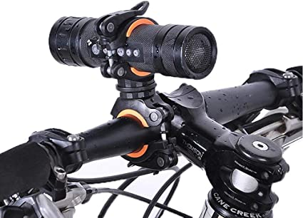 Flashlight Holder Bicycle Handlebar Light Mount Clip Rotate Support Clamp Useful
