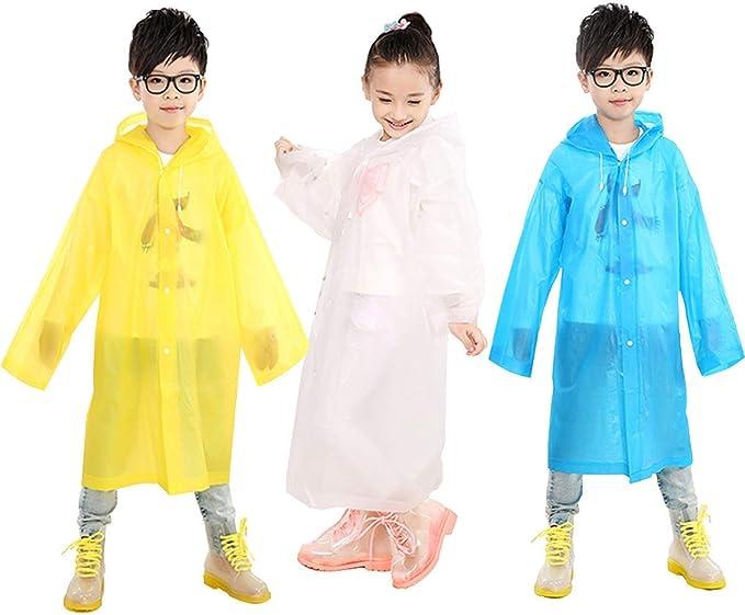 Wegwerfbare tragbare Regenmäntel für Kinder PEVA Spielraum-kampierende W3F8