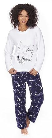Outlet Store Verkauf feine handwerkskunst Original- Forever Dreaming Kuschel-Schlafanzug mit Weihnachtsmotiv, Fleece, Zweiteiler
