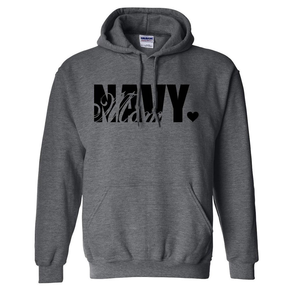 Navy Mom Hooded Sweatshirt PA-1591