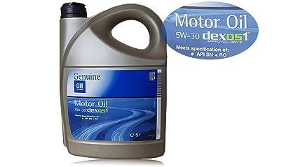 Opel GM 5W-30 Dexos1 Gen2 Longlife 95599877 - Aceite de motor original, 5