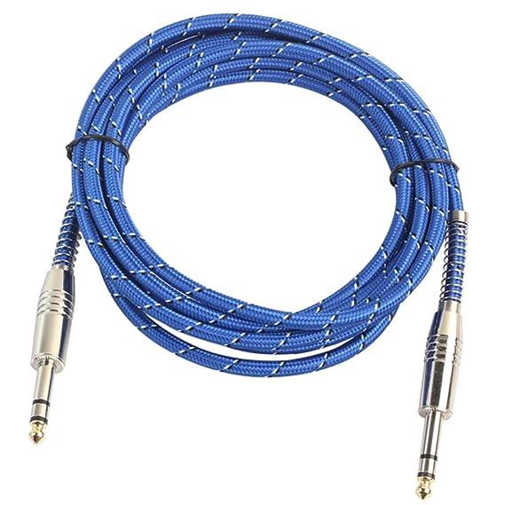 sharplace universal 6.35 mm estéreo macho a macho Audio Cable para mesa de mezclas DJ: Amazon.es: Instrumentos musicales