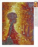 Sqailer 5D DIY Diamond Painting Full Square Drill Woman Back Rhinestone Embroidery for Wall Decoration 12X16 inches