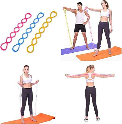 Amazon Com Glumes Resistance Bands 8 Type Silicone Resistance