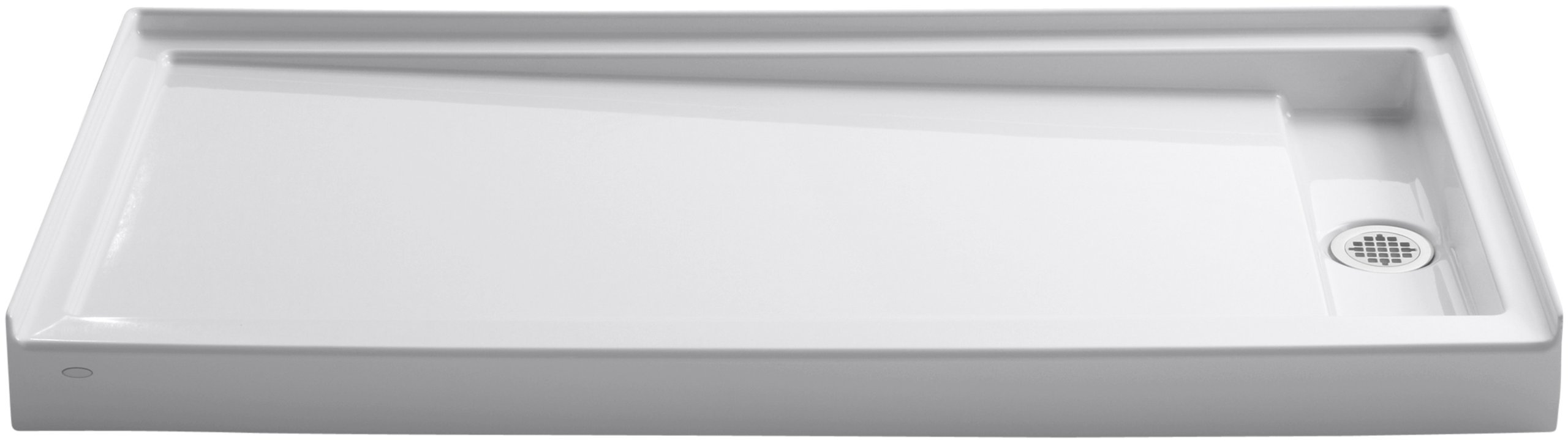 KOHLER K-9948-0 Groove Acrylic Receptor 60-Inch by 32-Inch Right-Hand Drain, White by Kohler