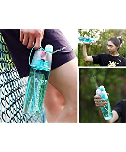UNIQUE VATIKA Spray Water Bottle 600 ML Sports Spray Water Bottle Straw Outdoor Bicycle Cycling Sports Gym, Outdoor Sports, Summer Bottles (Multicolor)
