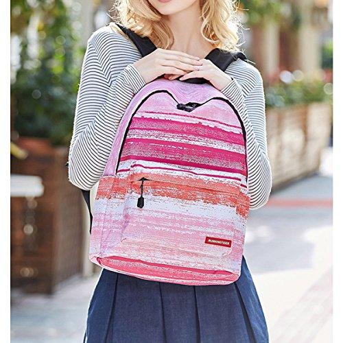 Mochila portátil para Escolar Lápices JOSEKO Estuche Estudiante Mochila de de Galaxy Stripes Daypack Hombro Mochila de Bolsa Mochila Pink Pattern PHwO77