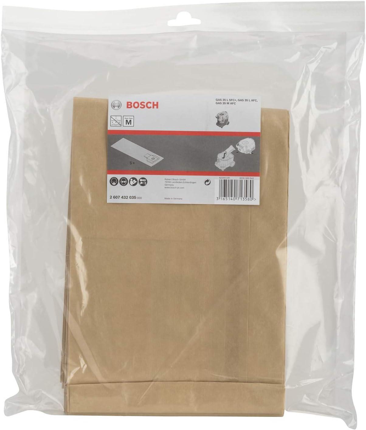 Bosch Professional Bolsas de papel para aspiradora, para GAS 35 ...