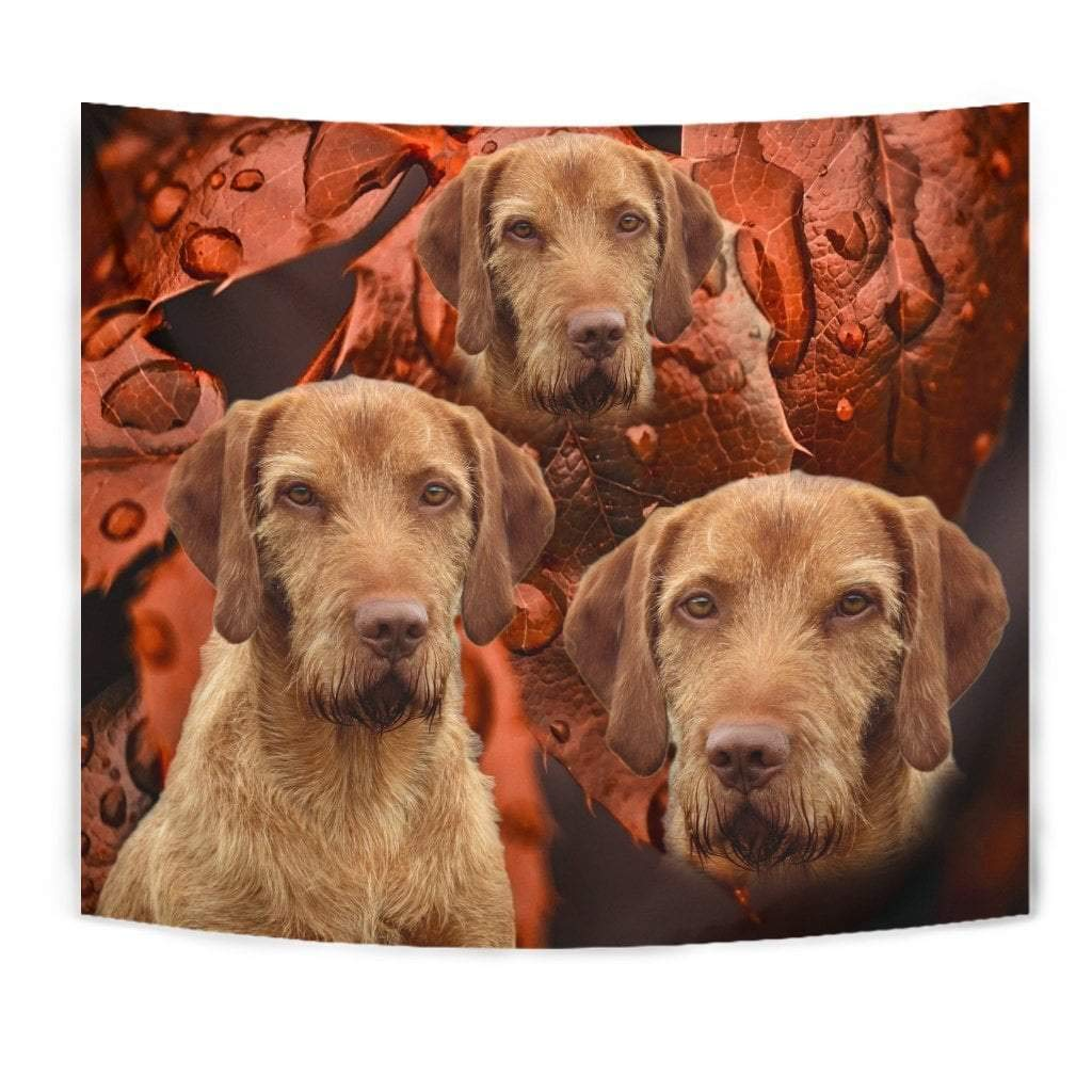 Cute Wirehaired Vizsla Print Tapestry by Paws With Attitude