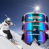 スノボートゴーグル スキーゴーグル スポーツメガネ ゴーグル UVカット 曇り止め 防風 防塵 飛散防止 通気 軽量 男女兼用