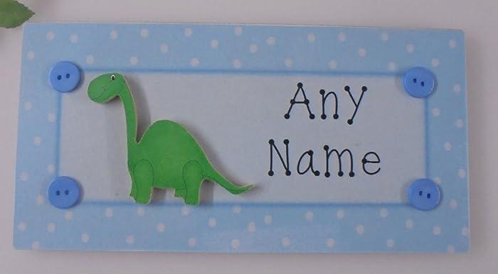 PERSONALISED Dinosaur Children\u0027s **ANY NAME** Door Sign Plaque Kids Room Bedroom 3D & PERSONALISED Dinosaur Children\u0027s **ANY NAME** Door Sign Plaque Kids ...