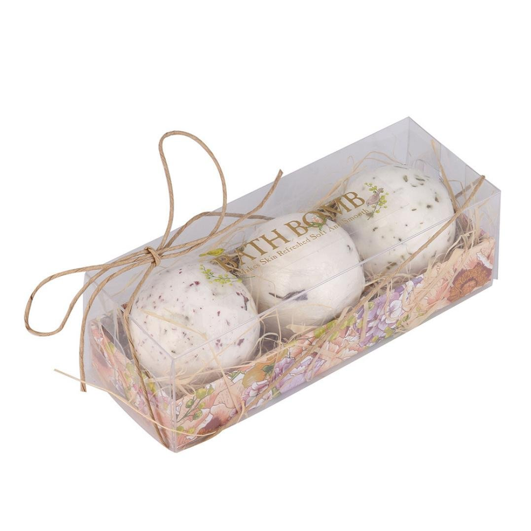 Bath Bombs Gift Set, Colorful(TM) Body Scrub Natural Sea Salt Lavender Bubble Essential Bath Bombs