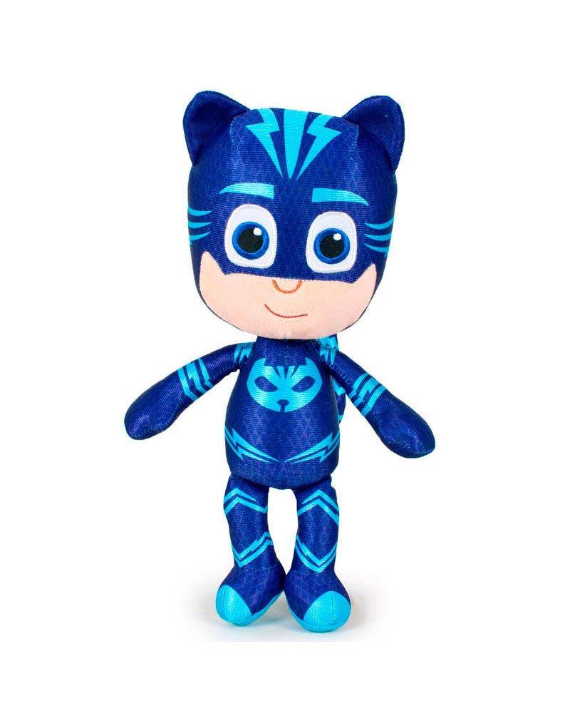PJ Masks Héroes en Pijamas 5961 Peluche, 23 Centímetros, Calidad Super Suave, Gatuno, Buhíta, Gecko (Gecko)