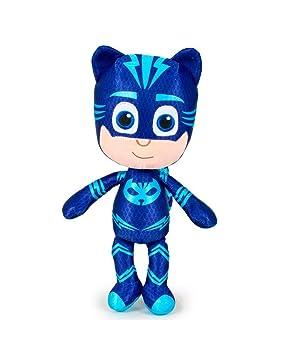 PJ Masks Héroes en Pijamas 5962 Peluche, 34 Centímetros, Calidad Super Suave, Gatuno, Buhíta, Gecko (Gatuno)