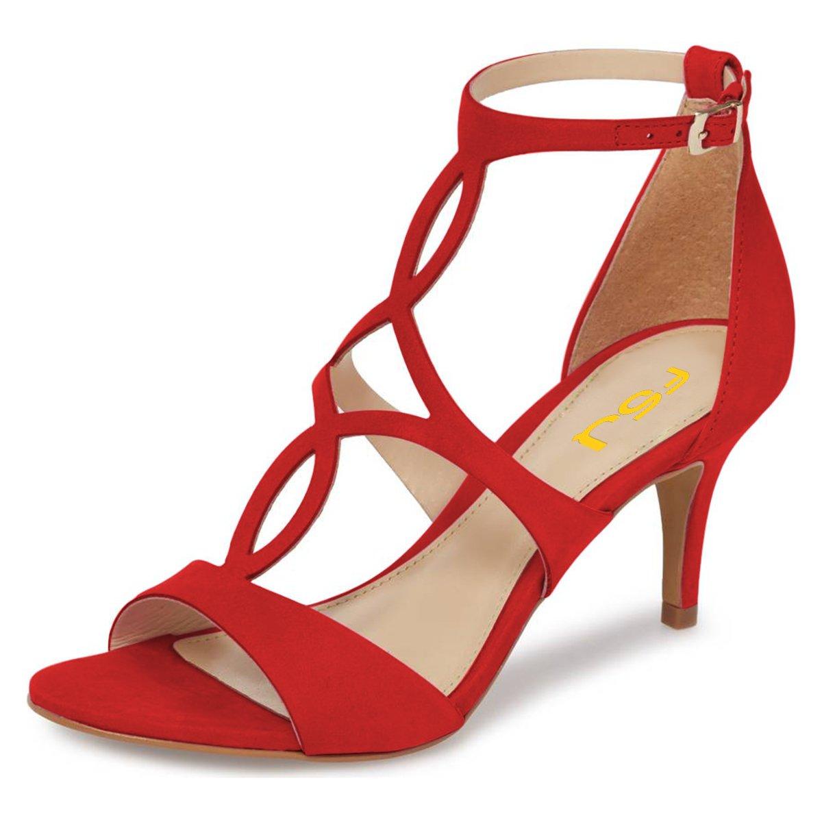 sandal heels red