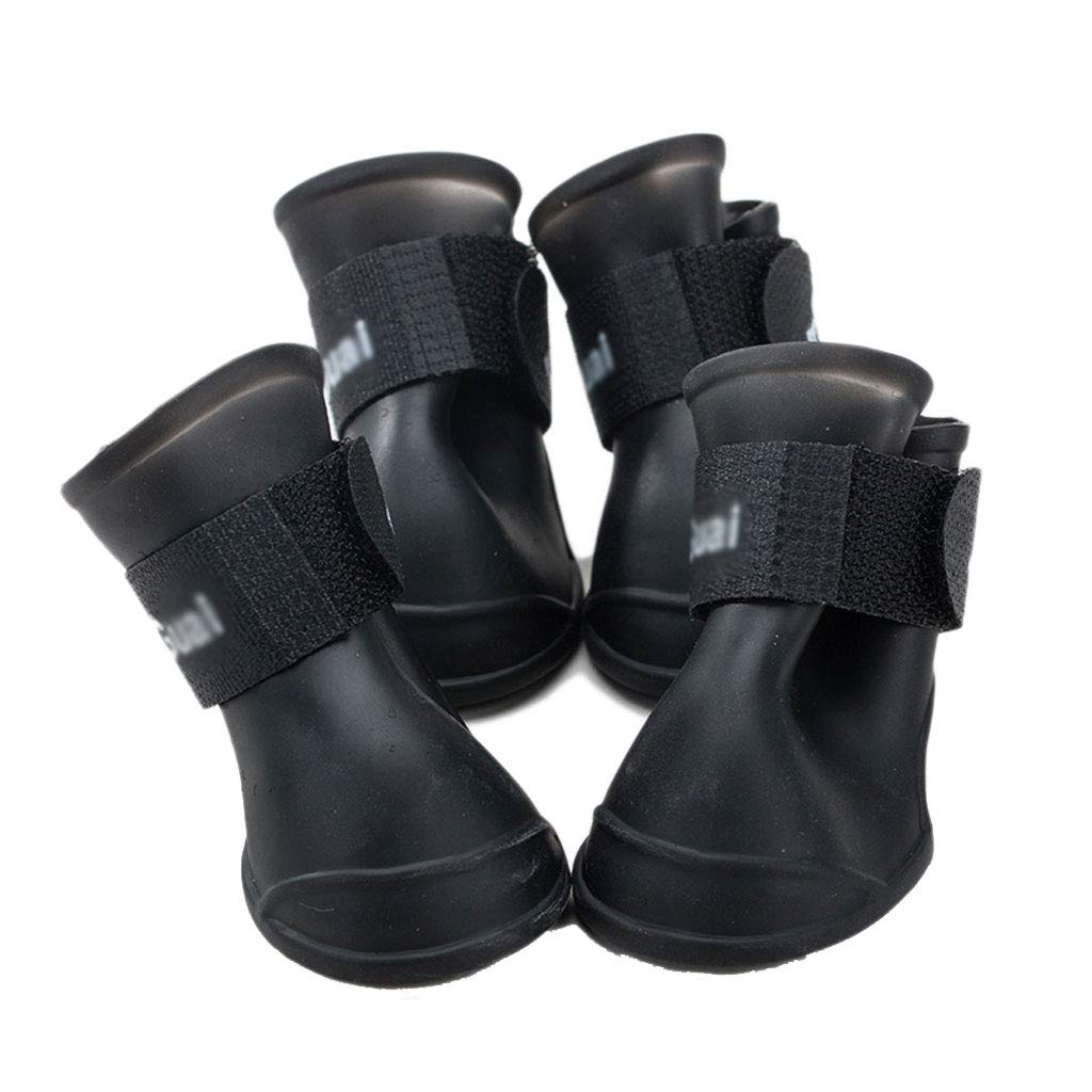 E Puppy shoes Summer Teddy Waterproof Rain Boots Pets Than Bear Feet Set of 4 Summer (color   E)