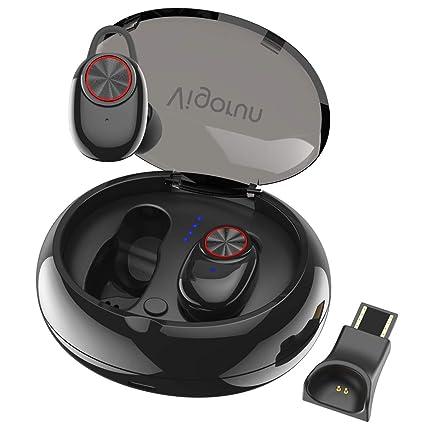 Auriculares Bluetooth Vigorun Mini TWS Headphones Inalámbricos Estéreo Cascos Deportivos Livianos con Caja de Carga de