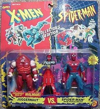 MARVEL JUGGERNAUT VS SPIDERMAN WALMART EXCLUSIVE MOC by Toybiz