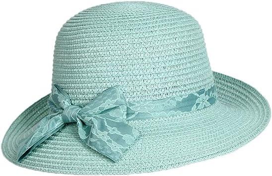 BAIYICHEN Damen Sonnenhut Der Bowler-Strohhut-Visier-Hut Der Frauen Faltbare Sommer-Strand-Reise Farbe : Khaki